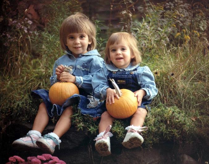 AJ & Cait with pumpkins